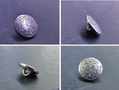 真鍮製手作りオリジナルボタン金具作成風景