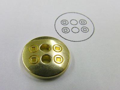 オリジナルのブランドロゴデザイン入り、特注ホック、カシメ、ボタン、チャーム、オーダーメイド、ブランドアクセサリー金具の製作