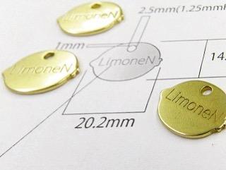 真鍮製のオリジナル、メタルアクセサリーチャームの特注オーダー
