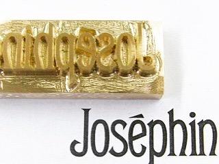 オリジナルブランドロゴを彫刻、オーダーメイドの焼印、素押し、刻印