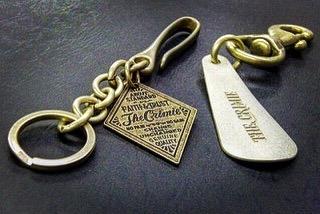 真鍮製の特注靴べらキーホルダー