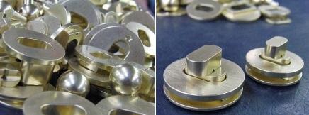 真鍮製のオリジナルひねり金具