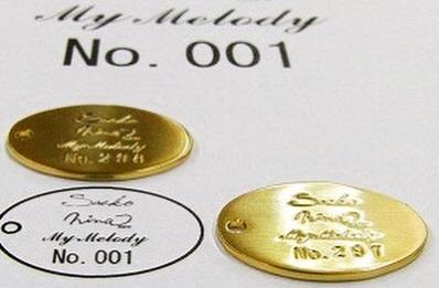 真鍮製、ナンバリング、シリアル番号入りオリジナルメタルチャームの製作