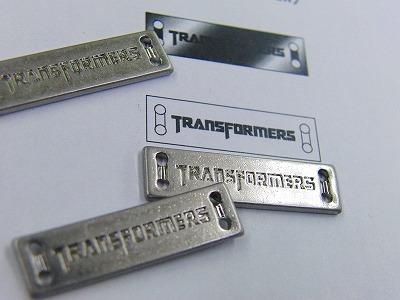 映画TRANSFORMERSさま用のオリジナルメタルプレートです。