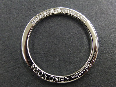 オリジナルブランドネーム、ロゴ入りオーダーメイドのリング金具、特注キーホルダー金具の製作