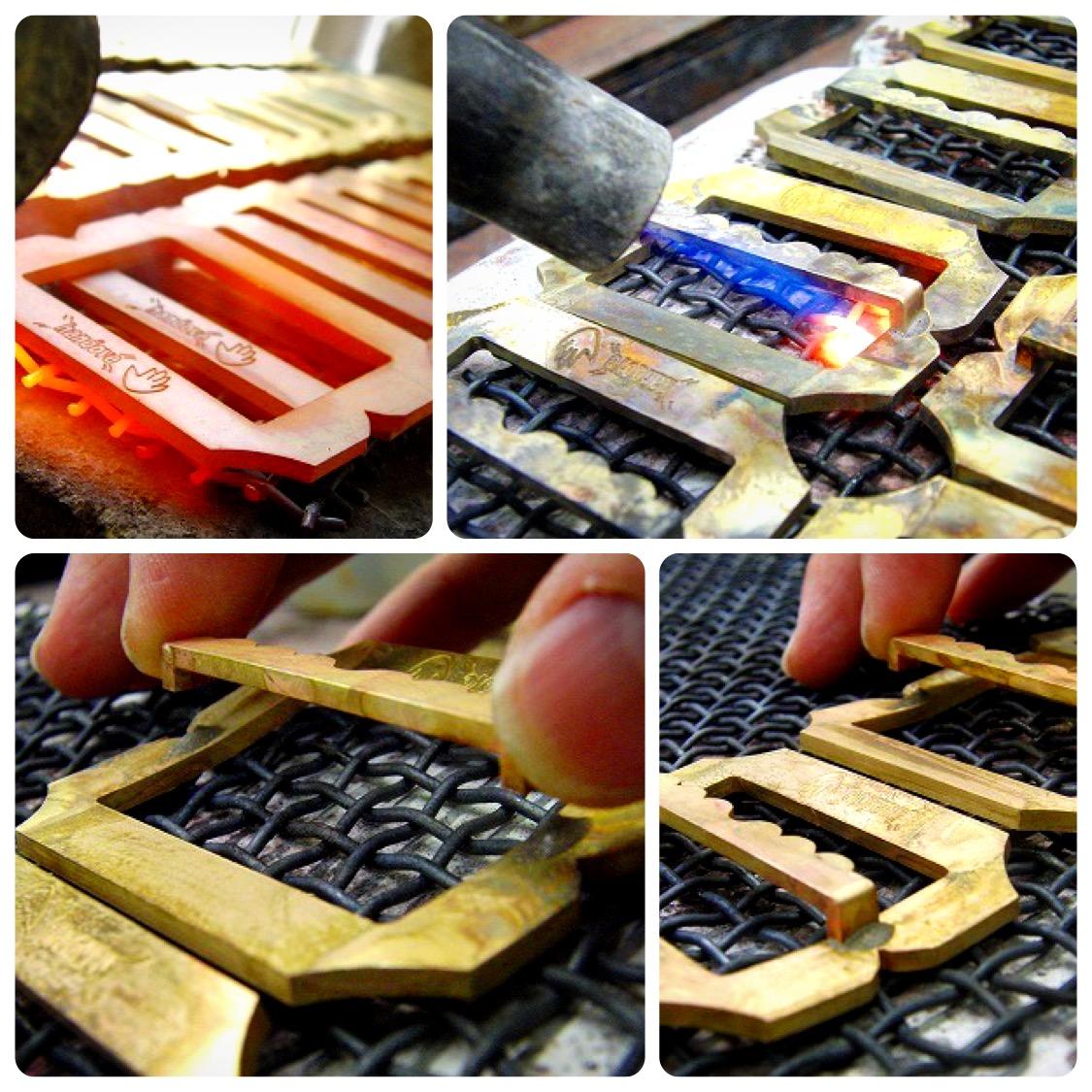 メタルハウスでは、さまざまお客様から、さまざまな用途に向けて、完全オーダーメイドのバックルを作ります。真鍮製などの素材のリクエストから、ブランドロゴ、ロットなどを考慮して、鋳物、プレス、削り出しなど、、お客様のイメージやデザインを形にする、最適な製法にて、オリジナルのバックルを製作していきます。