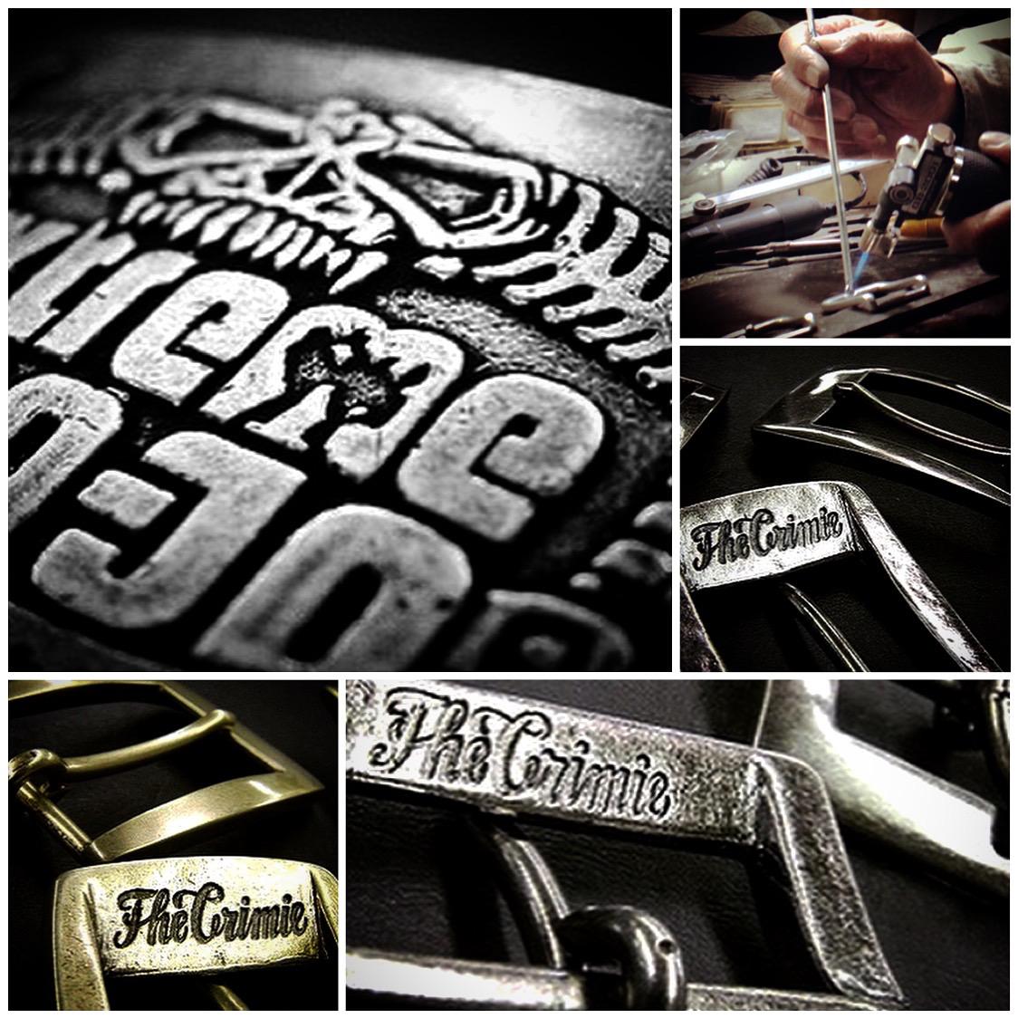 ベルトバックルのオーダーメイド。ロゴ、社名、名入れもオリジナルで製作。