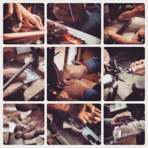 熟練の経験と技、感性と感覚を兼ね備えた職人達の魔法の手。また、職人達から生まれてくる感性をみごとに形にしてくれる機械や道具たち。
