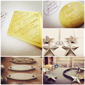 お客様のご希望を忠実に表現する為に、金色、銀色、アンティーク、またエポキシ樹脂加工で、カラフルな色展開、理想のイメージを金具にします。