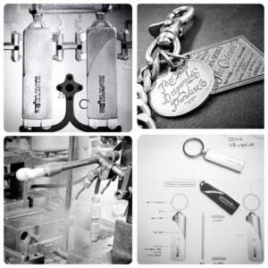 靴べらや靴べら付きキーホルダーを自由にカスタマイズしてオーダーメイド。お客様オリジナルブランドのロゴを刻印した、真鍮製、オーダーメイドの靴べらキーホルダーの製作。